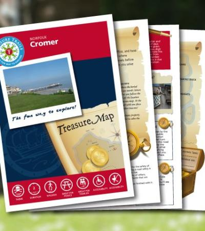 Map and booklet for Cromer Treasure Trail