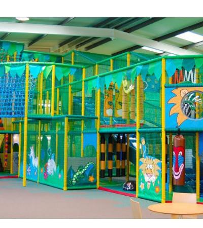 Indoor soft play frame at Jungle Adventure in Colchester