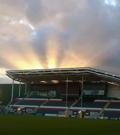 Sunrise at JTC VIP Area at Leicester Tigers
