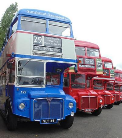 Buses at Castle Point Transport Museum in Canvey Island