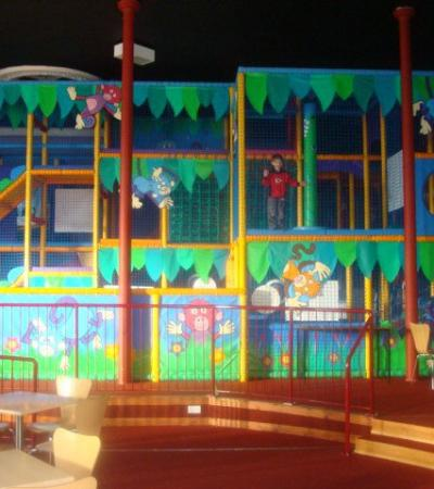 Indoor soft play frame at Cheeky Monkeys Montrose