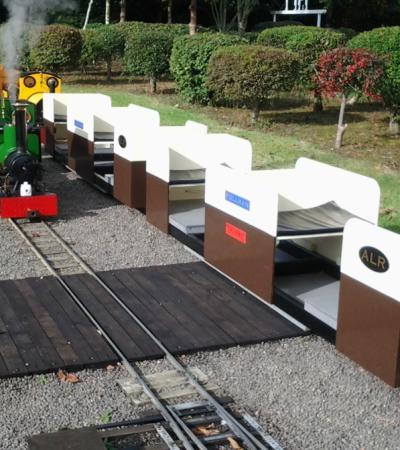 Trains at Ashmanhaugh Light Railway in Norwich