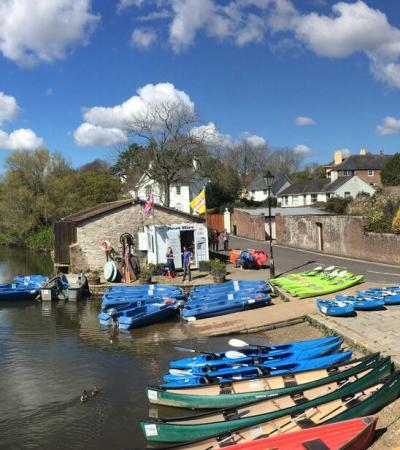View of the river by Wareham Boat Hire