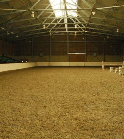Indoor horse riding arena at Docklands Equestrian Centre in Beckton