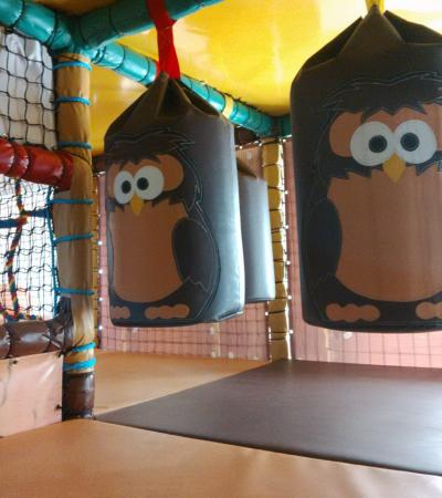Soft play frame at Owls Play Centre at Fairlop Waters in Barkingside