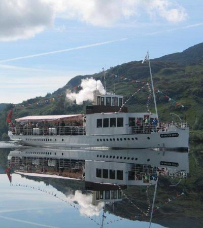 Tour boat at Loch Katrine in Stirling