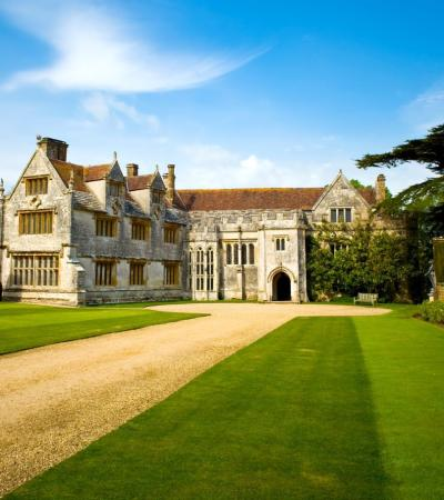 Outside view of Athelhampton House and Gardens in Dorchester