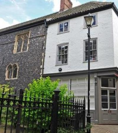 Outside view of Museum of Norwich at the Bridewell