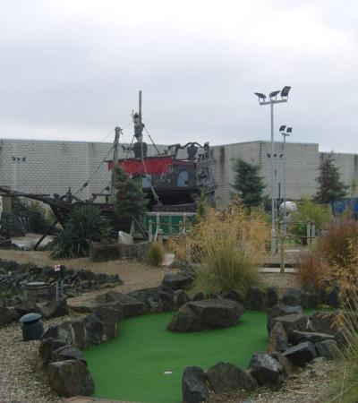 Mini golf course at Junction Jacks Mini Golf in Antrim
