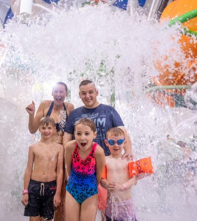 A family in the Splash Zone at The Wave in Coventry. Source - The Wave Coventry Facebook