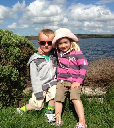 Kids at Roadford Lake Country Park in Lifton