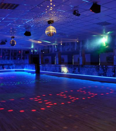 Disco rollerskating at Rollers at Claremont Pier in Lowestoft