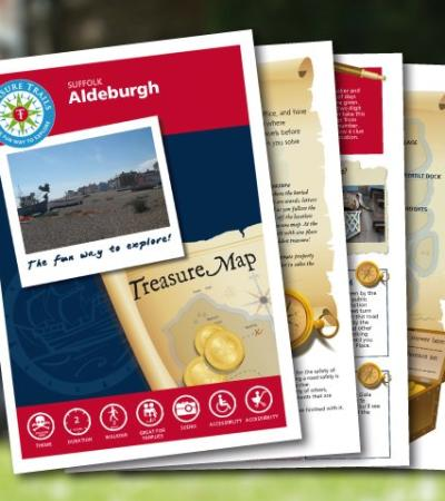 Map and booklet for The Aldeburgh Treasure Trail