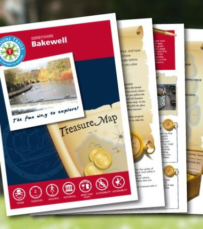 Map and booklet for The Bakewell Treasure Trail