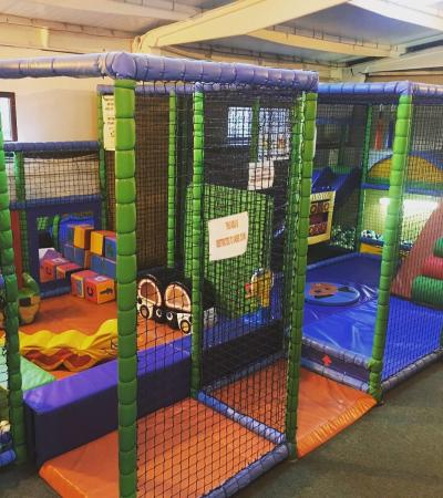 Toddler soft play frame at Buzy Bees Playbarn in Sevenoaks