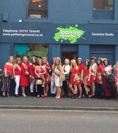Hen party at Pottering Around in Chapeltown