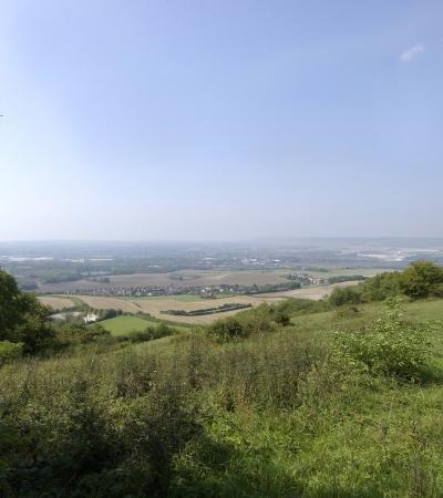 View from Bluebell Hill Picnic Site in Rochester