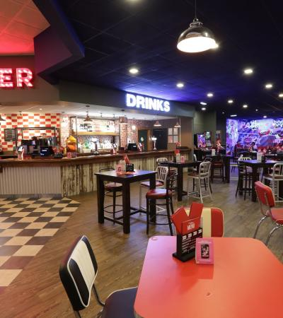 The diner at Hollywood Bowl Dagenham