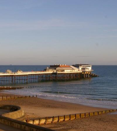 A view of Cromer Pier at Cromer Beach, Cromer