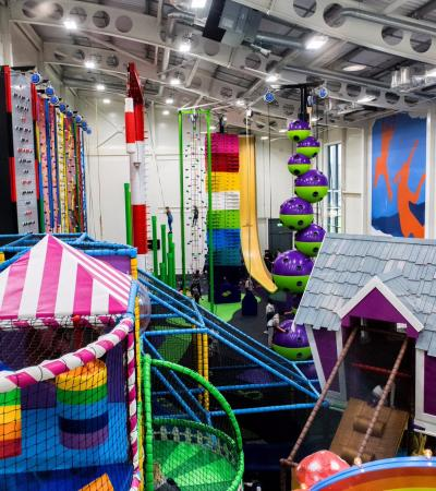Soft play and climbing area at Sutcliffe Park Sports Centre in London