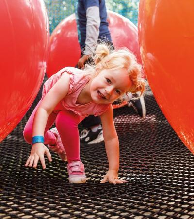 A little girl at Go Ape Black Park