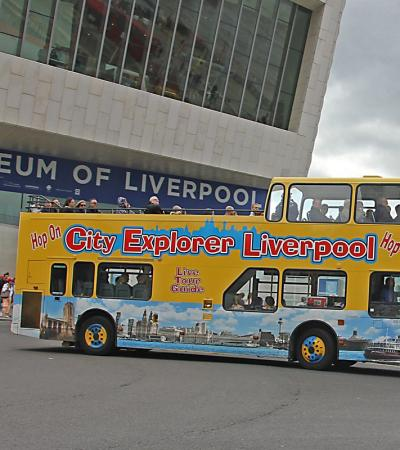 City Explorer Liverpool passing the Museum of Liverpool