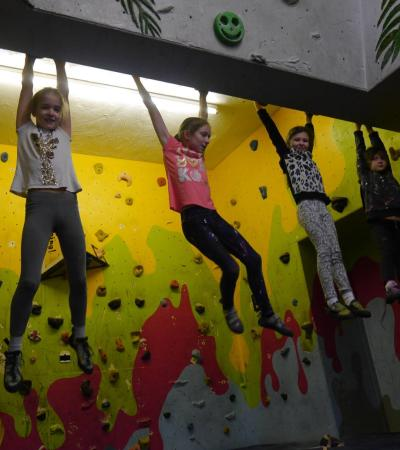 Kids climbing at Rope Race Climbing and Activity Centre in Stockport