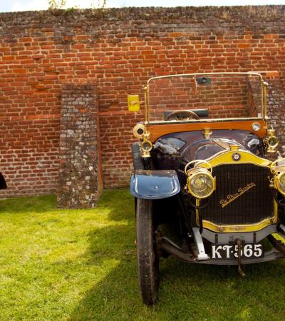 Vintage cars at The Cressing Temple Barns in Braintree