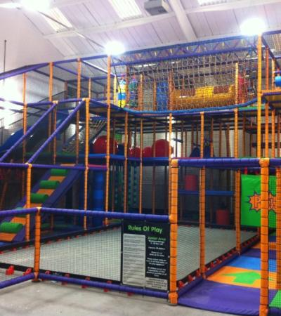Indoor soft play frame at Fourways Play Centre in Atherstone