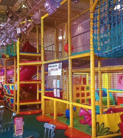Indoor soft play frame at Captain Kids Adventure World in Skegness