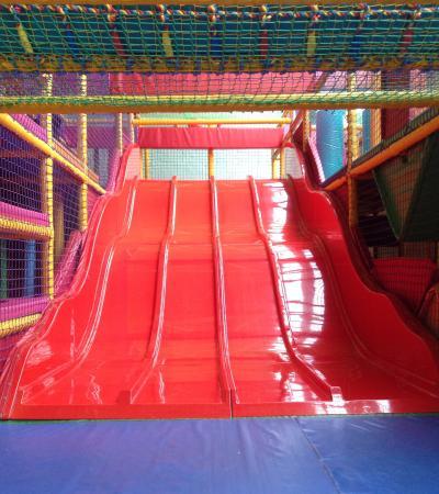 Soft play slide at Wild Kidz in Hinckley