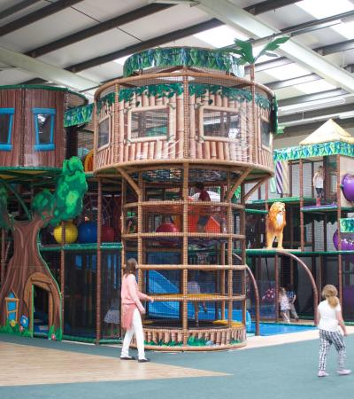 Indoor soft play frame at Jungle Mania Swindon