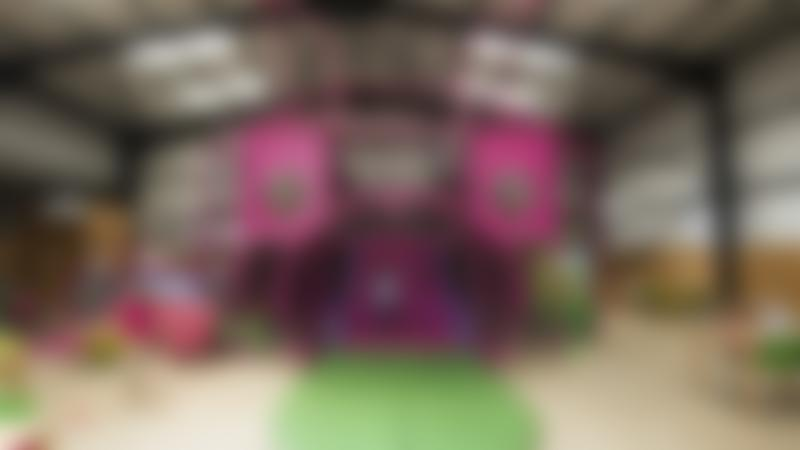Indoor soft play frame at Pink Pig Farm in Scunthorpe