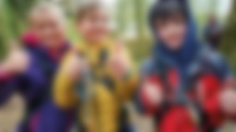 Three Kids at Go Ape
