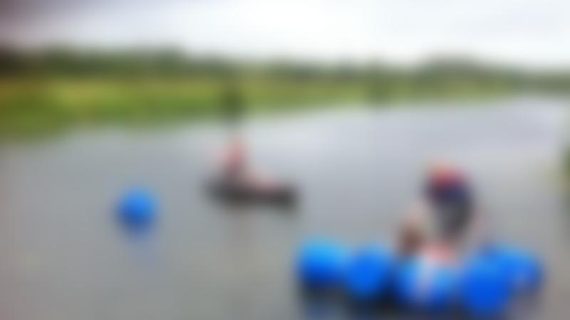 Kids of rafts at Nene Extreme Adventures in Oundle