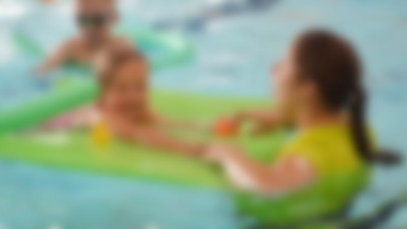 Kids swimming at Embassy Outdoor Swimming Pool in Skegness