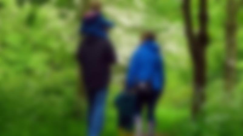 Family walking at Baddesley Clinton