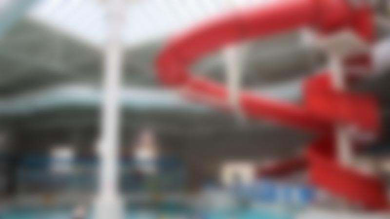 Red Ripster Slide and swimming pool at Hyde Leisure Pool