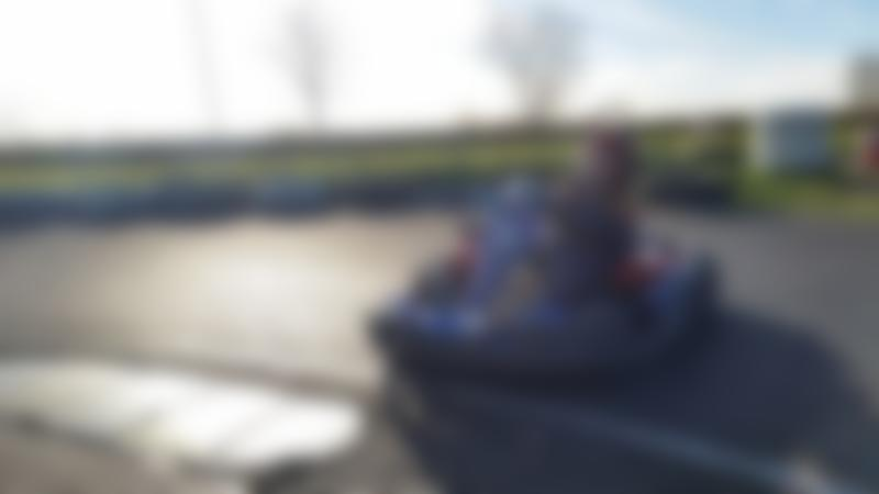 Boy on go kart at Superdrive Karting in Armagh