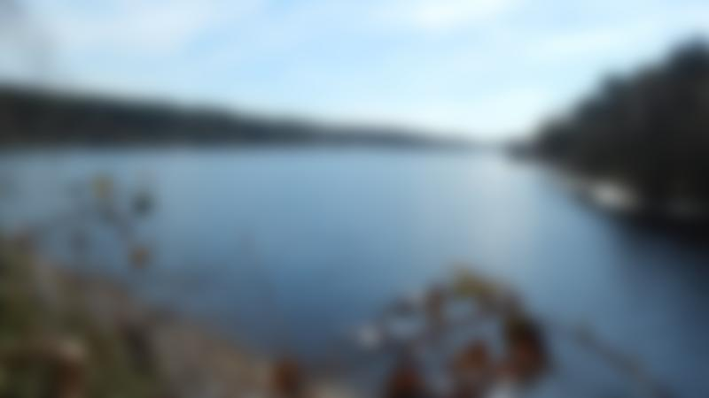 Lake at Ogden Water Country Park in Halifax