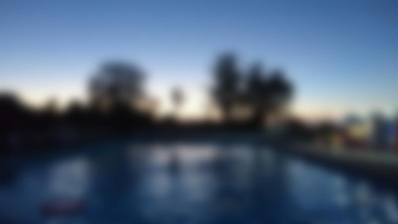 Sunset at Beccles Outdoor Swimming Pool