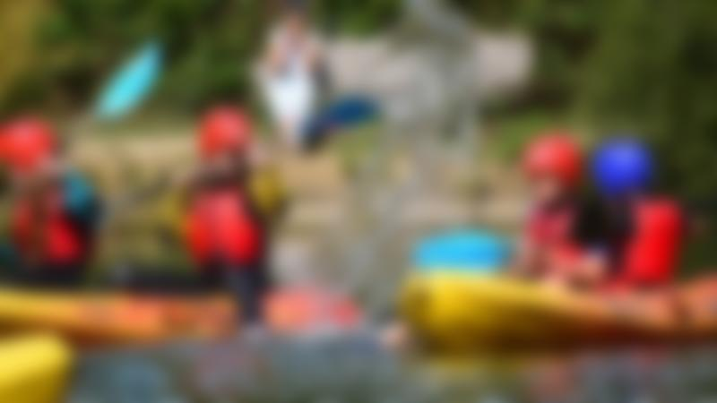 Kids on canoes at Dinton Activity Centre in Hurst