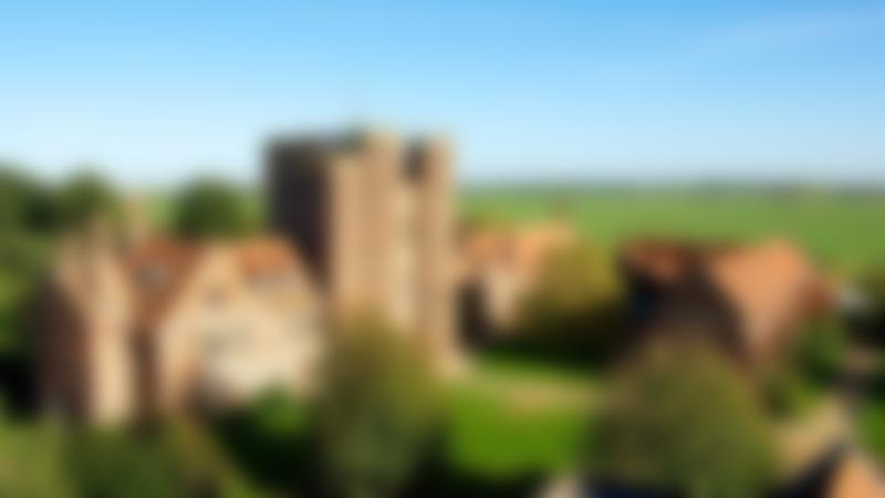 Aerial view of Layer Marney Tower in Colchester