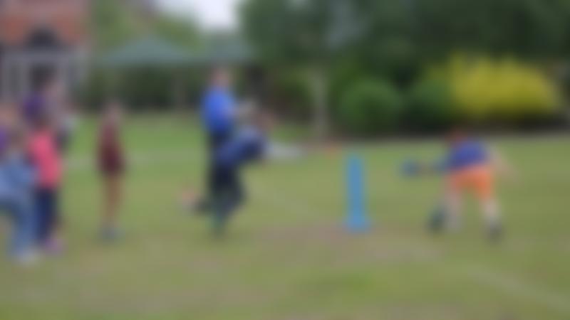 Kids playing cricket at Supercamps in Shrewsbury
