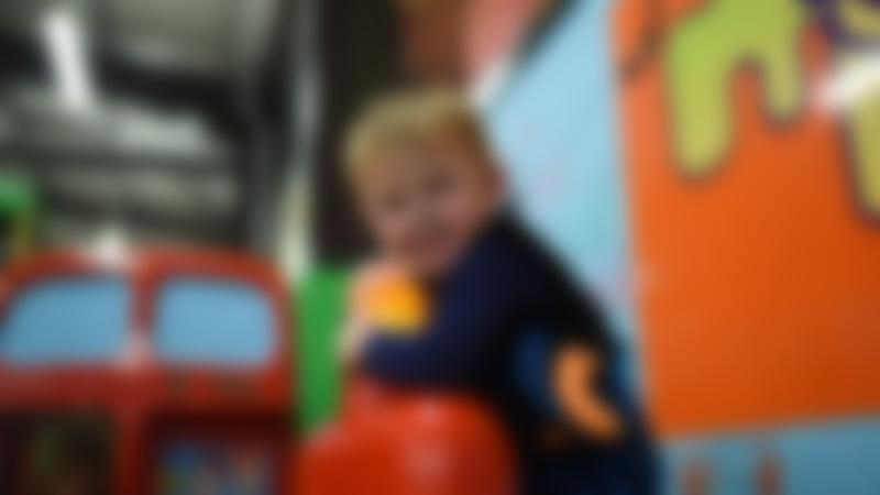 Boy plays at Monkey Bizness Indoor Play Centre in Lewes