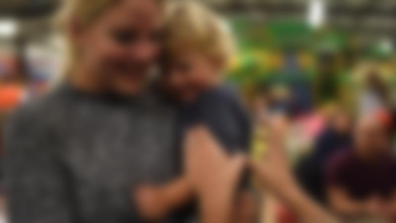 Mum and son at Monkey Bizness Indoor Play Centre in Lewes