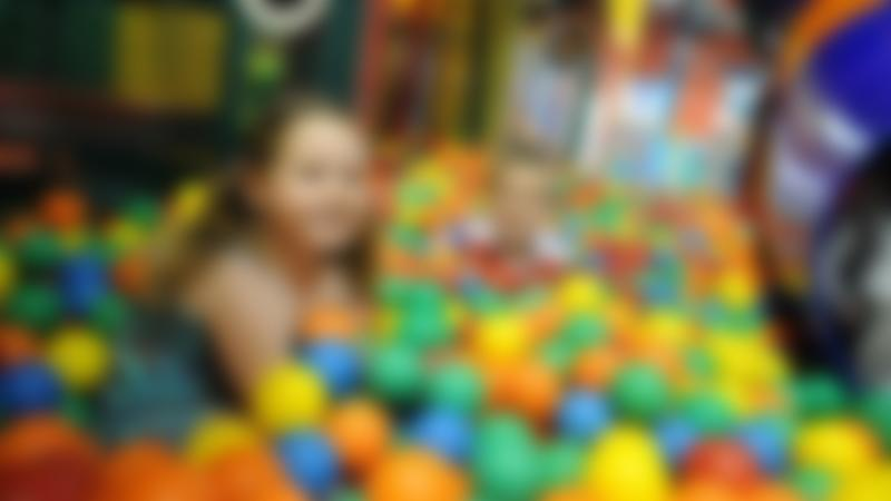 Kids in ball pit at Wacky Warehouse - Strawberry Field in Evesham
