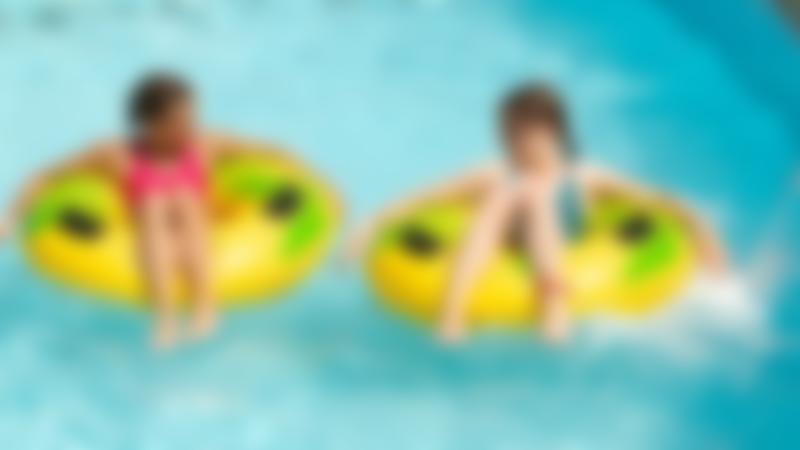 Girls in swimming pool at Splashdown in Poole
