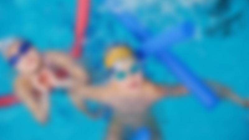 Kids swimming at Silksworth Community Pool, Tennis & Wellness Centre in Sunderland