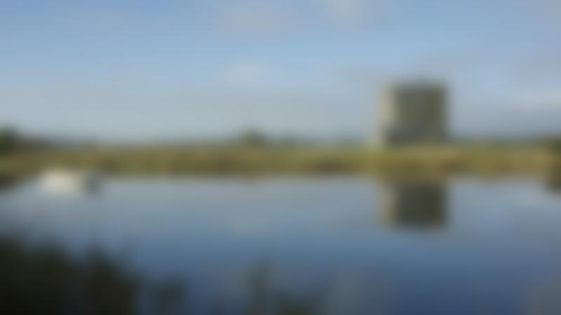 Lake by Threave Castle in Castle Douglas